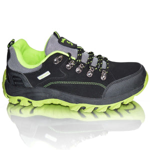 Mens Hiking Shoes Winter Combat Walking Trail Slip On Boots
