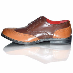Mens Leather Smart Wedding Office Formal Brogues Shoes