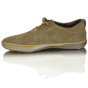 Mens Caterpillar Leather Casual Flat Trainer Shoes