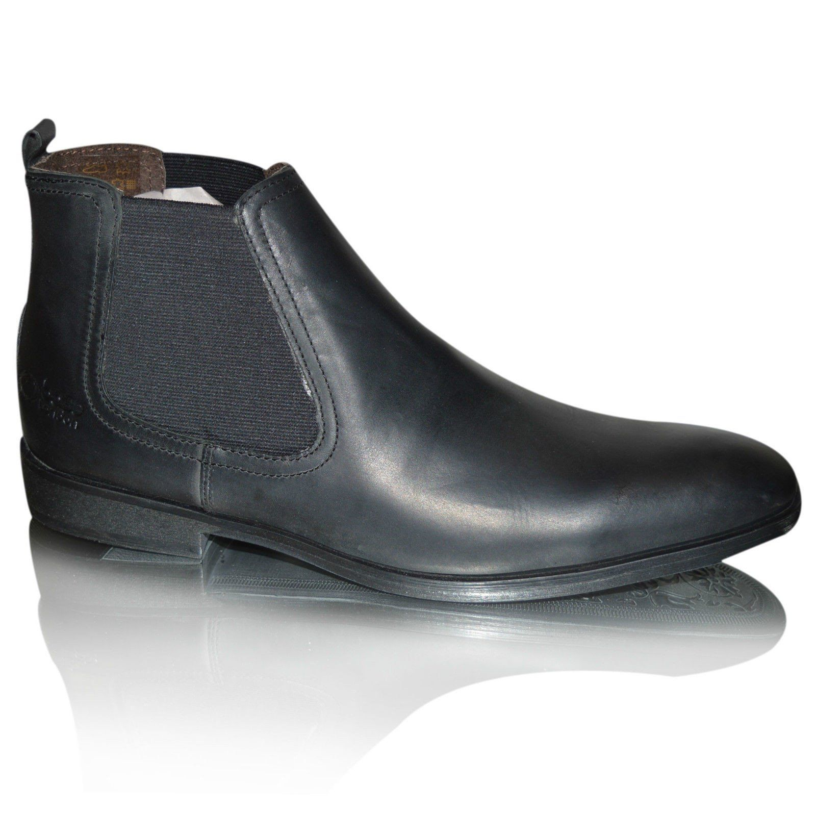 Mens 100% Leather Chelsea Ankle Biker Boots