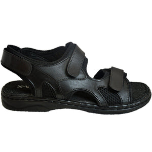 Mens Summer Sandals Leather Velcro Strap Gladiator Beach Mules