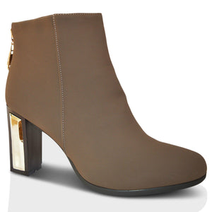 Womens Block Heel Chelsea Ankle Boots