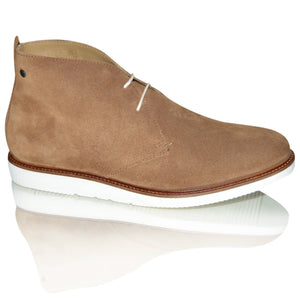 Mens 100% Suede Leather Chukka Casual Boots