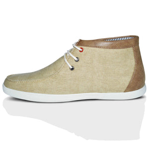 Mens Casual Flat Canvas Ankle Trainers Boots Shoes
