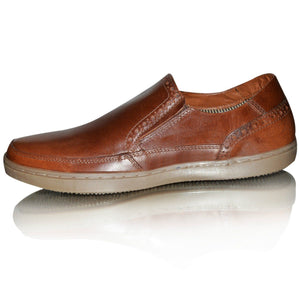 Mens Casual Red Tape Leather Deck Shoes