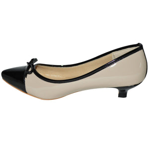 WOMENS LOW HEEL POINTED TOE COURT SHOES