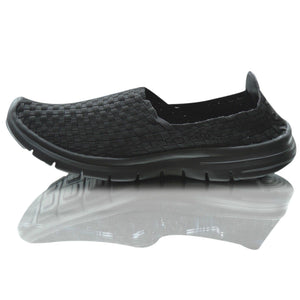Mens Casual Elasticated Flat Walking Running Flexible Trainer