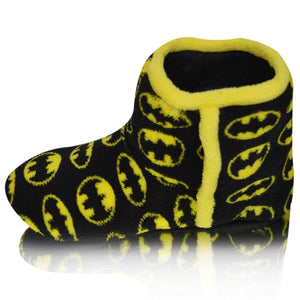 Kids Slip On Furry Batman Warm Fur Slippers Ankle Booties
