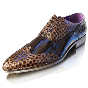 Mens Leather Lined Crocs Patent Formal Party Dress Shoes