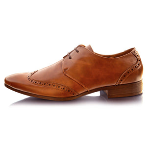 Mens Italian Leather Lined Pointed Toe Formal Shoes