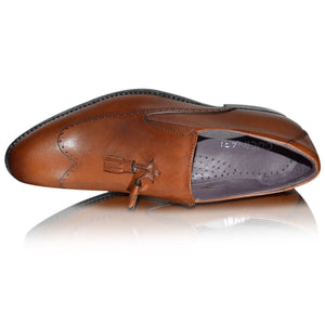 Gucinari Mens Leather TASSEL Loafers Smart Formal Shoes