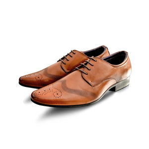 Mens Smart Leather Brogues Formal Office Shoes