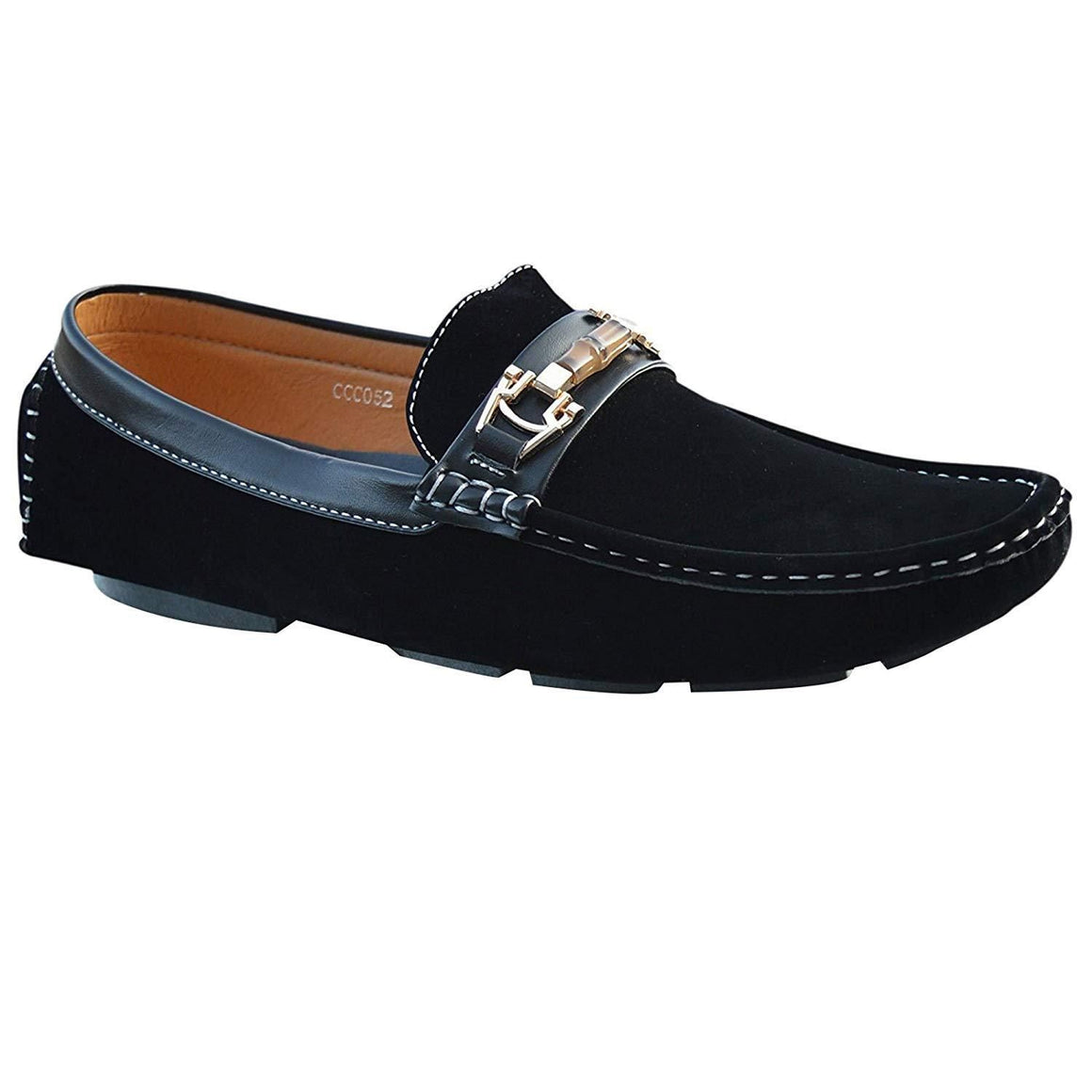 Mens Suede Loafers Casual Slip On Driving Moccasins Flat Shoes