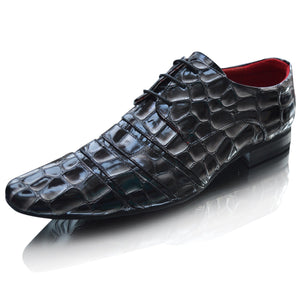 Mens Crocs Patent Formal Wedding Lace Up Shoes