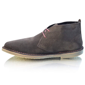 Mens Leather Suede Retro Lace Up Chukka Desert Ankle Boots