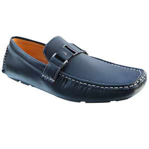 Mens PU Leather Loafers Slip On Driving Moccasins Flat Shoes