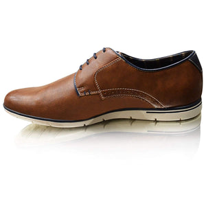 Mens Casual Leather Lined Smart Formal Lace Up Shoes