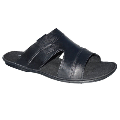 b41fd57777fa Mens Leather Comfort Mules Sandals Flip Flops Strappy