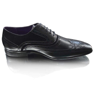 Mens Suede Leather Wingtip Formal Brogues