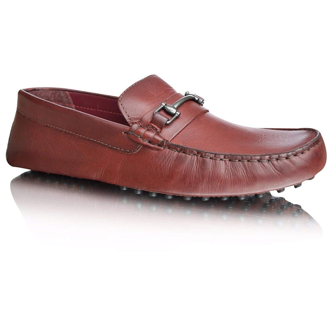 Mens Leather Loafers Casual Slip On Driving Moccasins Flat Shoes
