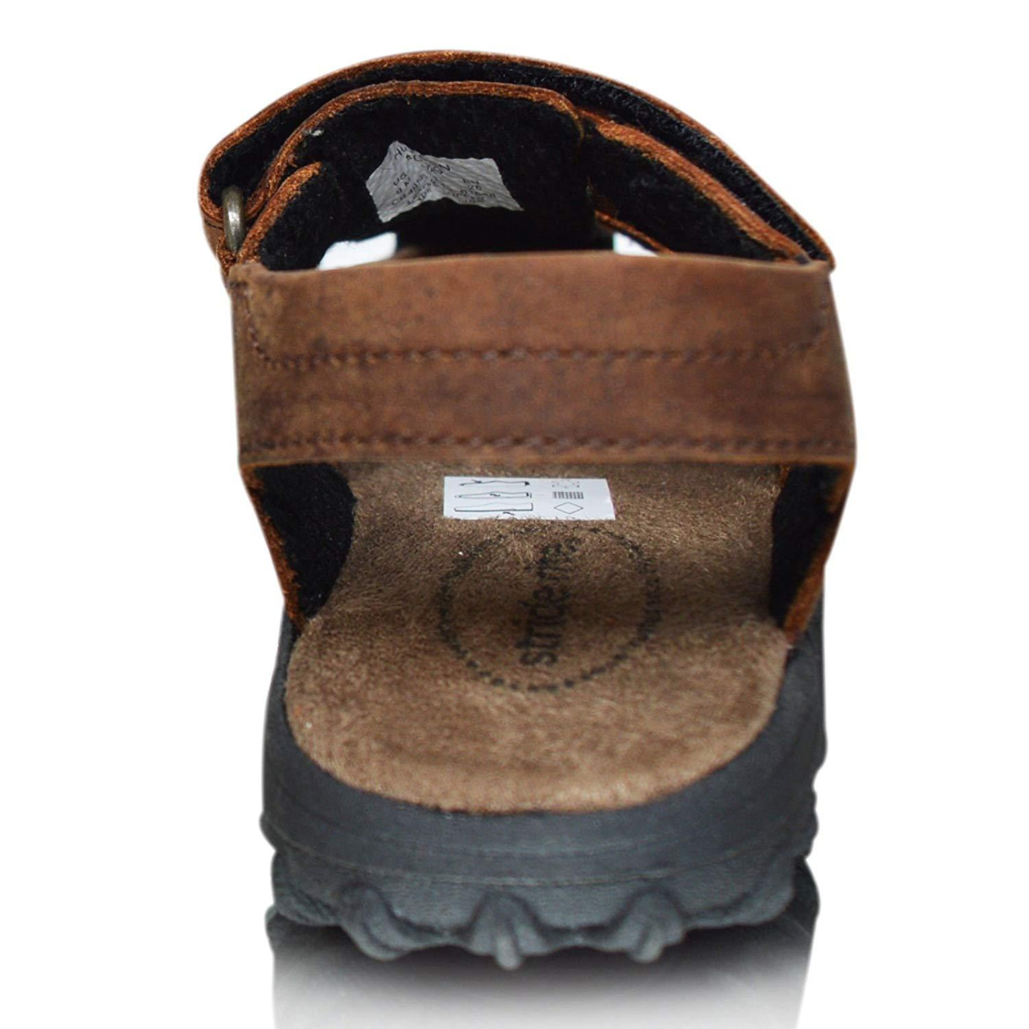 4a8fcee9403a8 Xelay Boys Leather Brown Fisherman Sports Summer Sandals Size Toddlers Child  UK 7 8 9 10 11 12 13