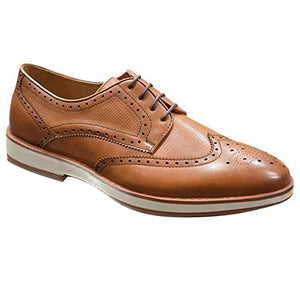 Mens Leather Lined Formal Casual Lace Up Wingtip Oxford Brogues