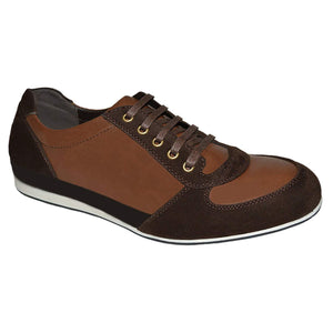 Mens Casual Suede Leather Low Top Lace Up Trainers