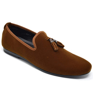 Mens Leather Tassel Loafers Slip On Driving Moccasins Flat Shoes