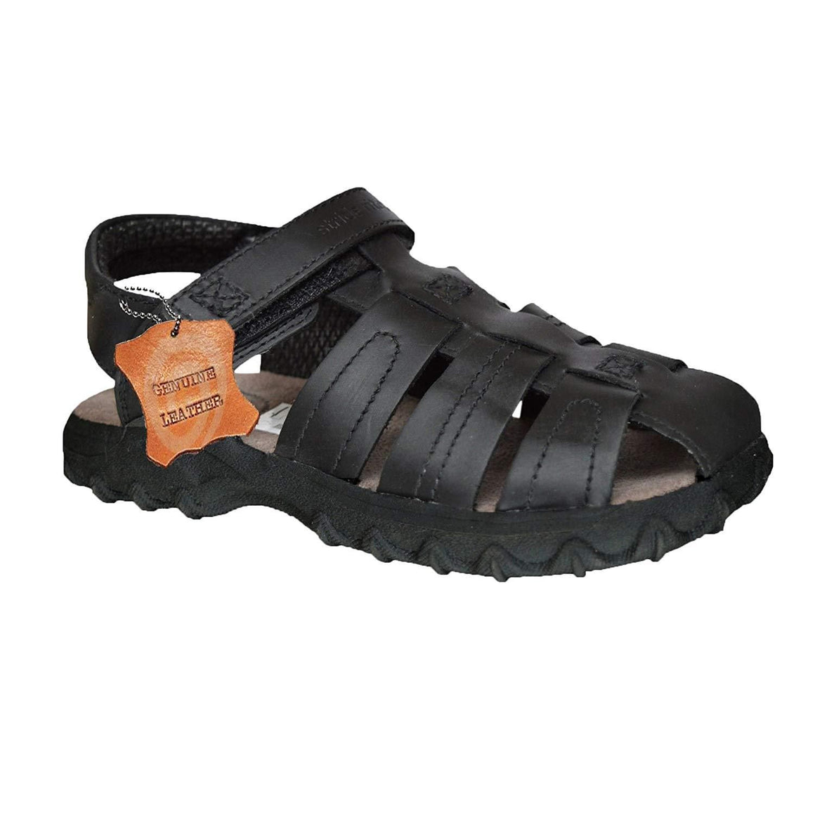 Xelay Boys Leather Brown Fisherman Sports Summer Sandals Size Toddlers/Child UK 7 8 9 10 11 12 13