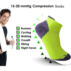 Womens Running Sports Socks Anti-Blister Performance Compression sock for Men