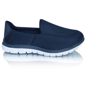 Men's Slip On Go Walk Lightweight Mesh Breathable Casual Trainers