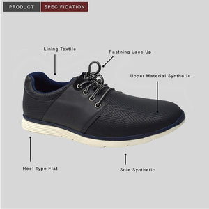 Mens Casual Lace Up Navy Denim Blue Summer Shoes