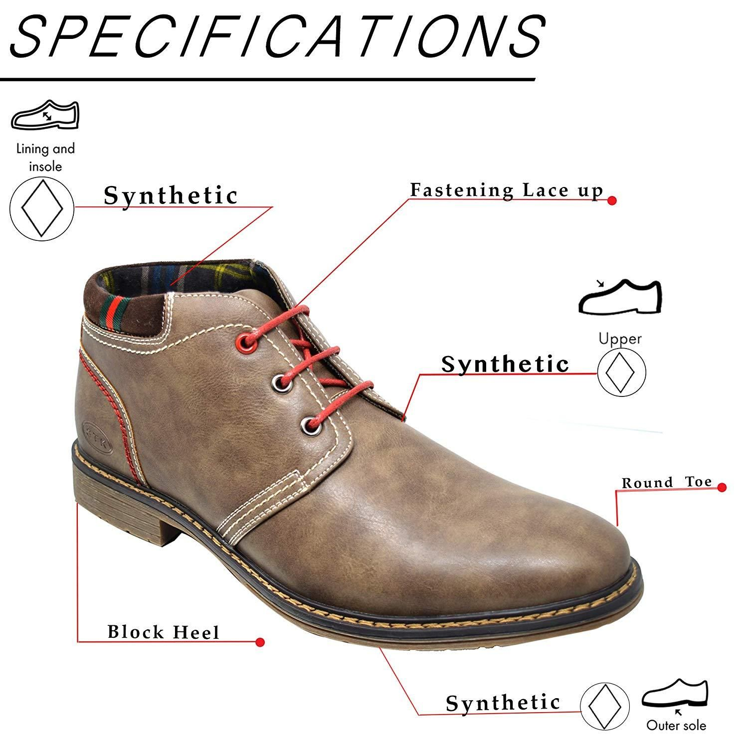 4fd3ee9bcac5 Mens Leather Suede Retro Lace Up Chukka Desert Ankle Boots