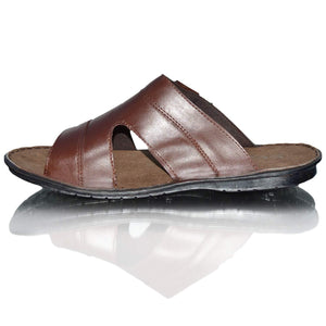 Mens Leather Comfort Mules Sandals Flip Flops Strappy