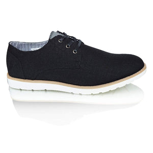 Mens Formal Lace Up Navy Denim Blue Casual Summer Shoes
