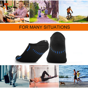 12-Pack Men's Cotton Smart Breathable Casual Plain Short Ankle Socks Non-Slip