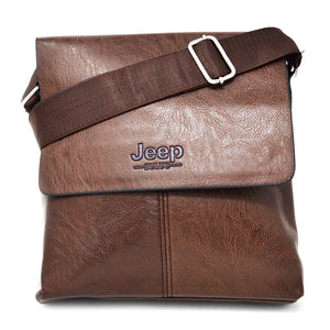 Xelay Smart Travel Leather Crossbody Messenger Bag Brown