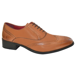 Mens Leather Smart Brogues  Wedding Office Formal Shoes