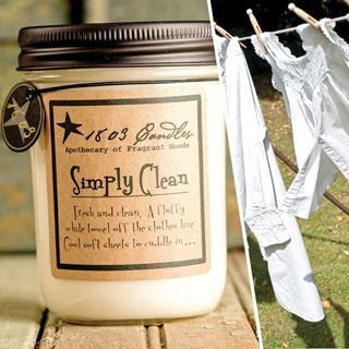 Simply Clean Soy Jar Candle - 14oz.