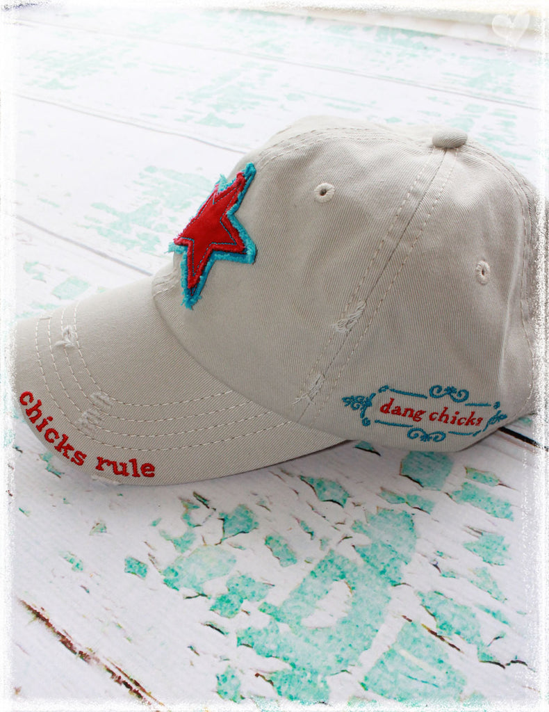 Chicks Rule! Baseball Hat Red