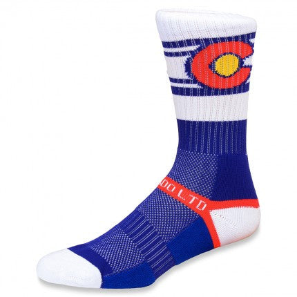 White Colorado Flag Socks