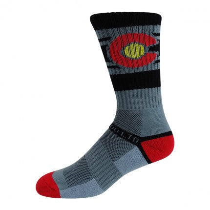 Grey Colorado Flag Socks