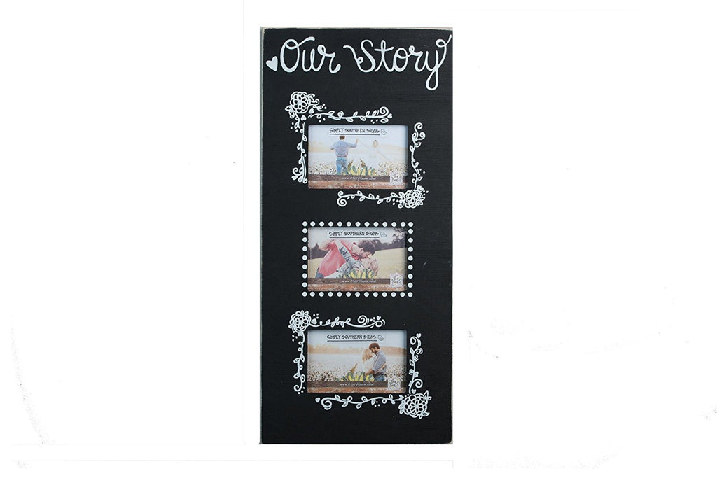 "Glory Haus ""Our Story"" 3 Picture Frame"