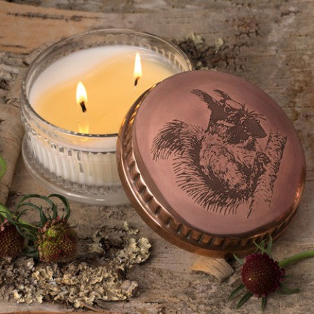 Sugared Lemon Squirrel Candle Pot