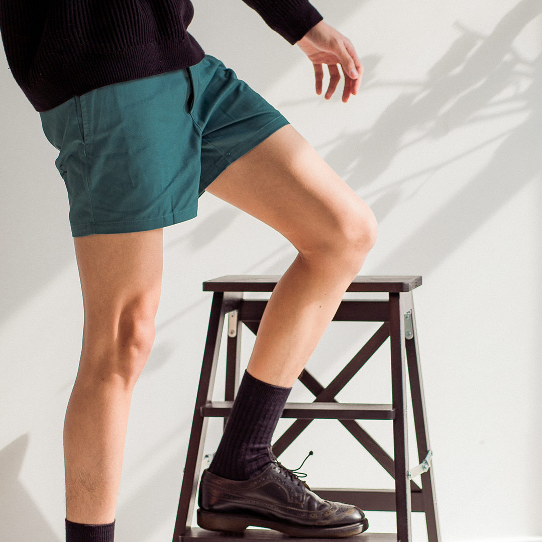 Summer Preppy Short Shorts Teal