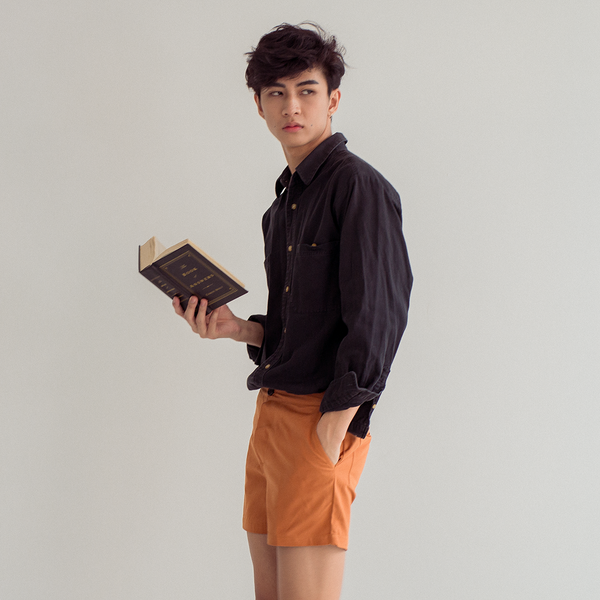Summer Preppy Short Shorts Mandarin