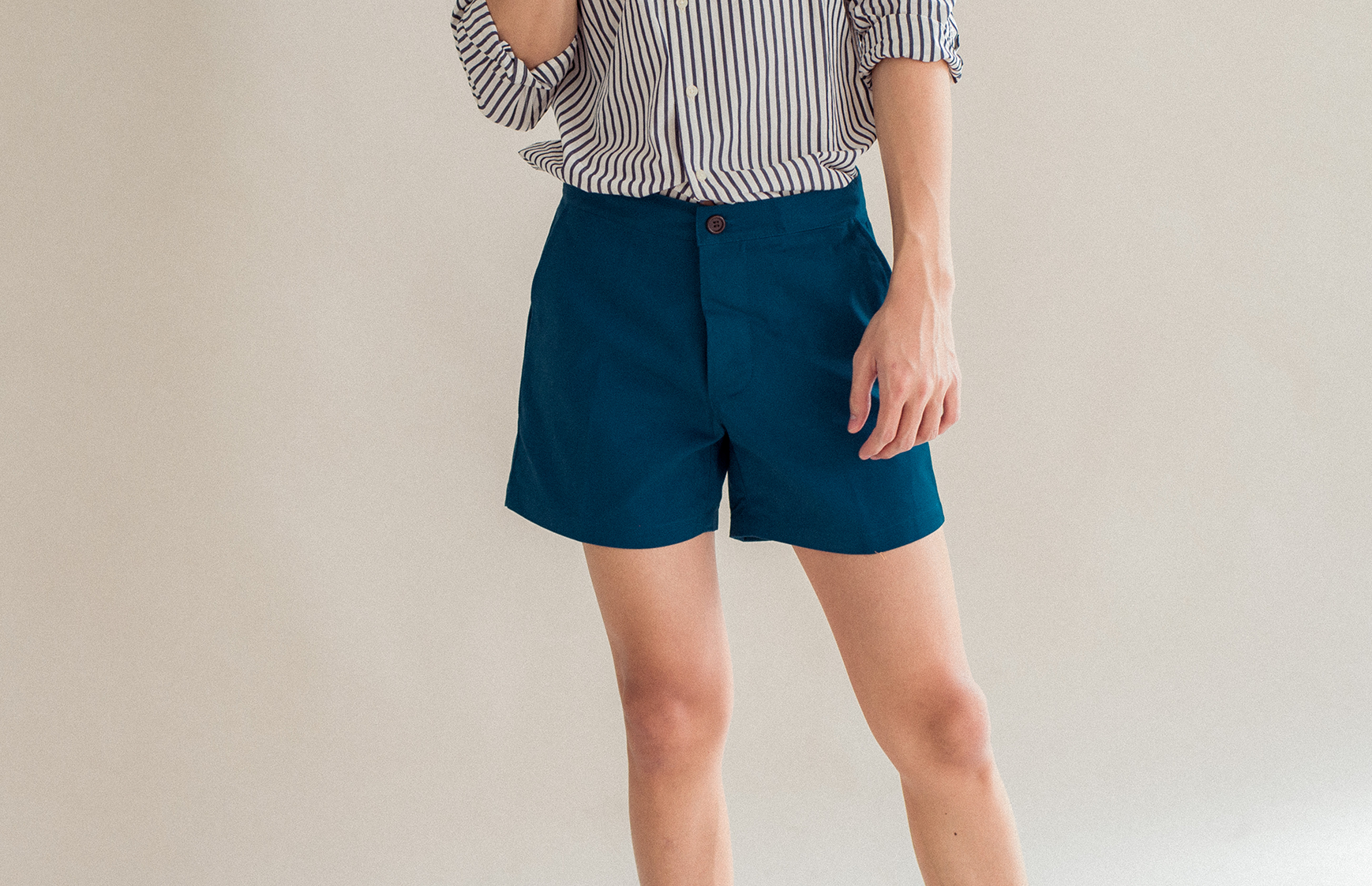 Summer Preppy Short Shorts Prussian Blue