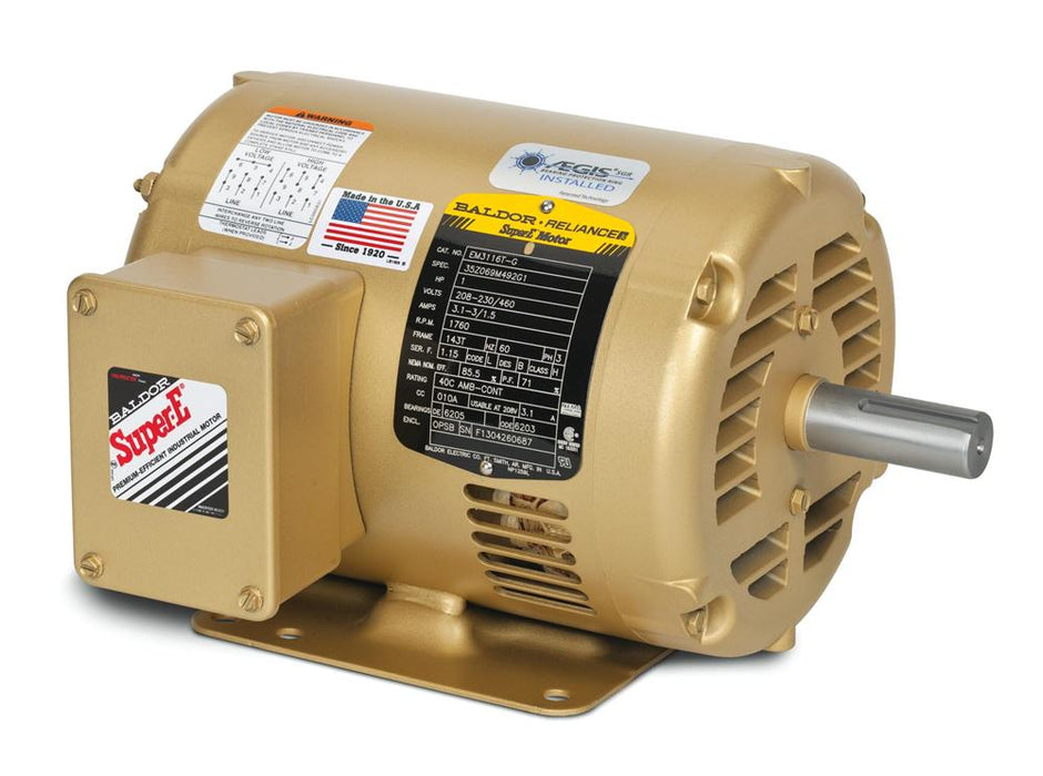 Baldor EM31112 General Purpose Three Phase Motor - EM31112