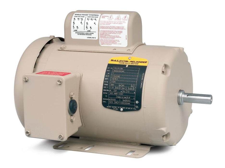 Baldor FDL3510M Premium Efficient Farm Duty Motor - FDL3510M