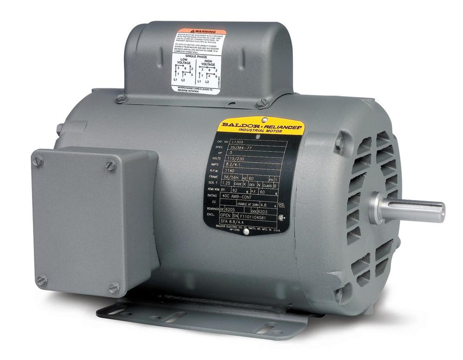 Baldor L1201 General Purpose Single Phase Motor - L1201